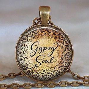Gypsy Soul Boho Bronze Pendant Necklace